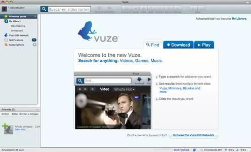Vuze Screenshots 1